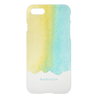Mint and Yellow Ombre Watercolor iPhone 7 Case
