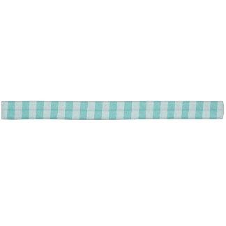 Mint Aqua Striped Hair Tie