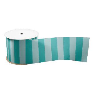 Mint Aqua Striped Satin Ribbon