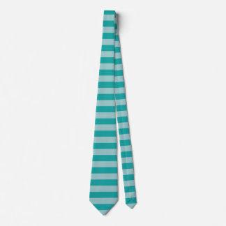 Mint Aqua Striped Tie