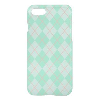 Mint Argyle iPhone 7 Case