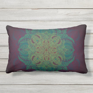 Mint Berry Fleury Patio Lumbar Pillow