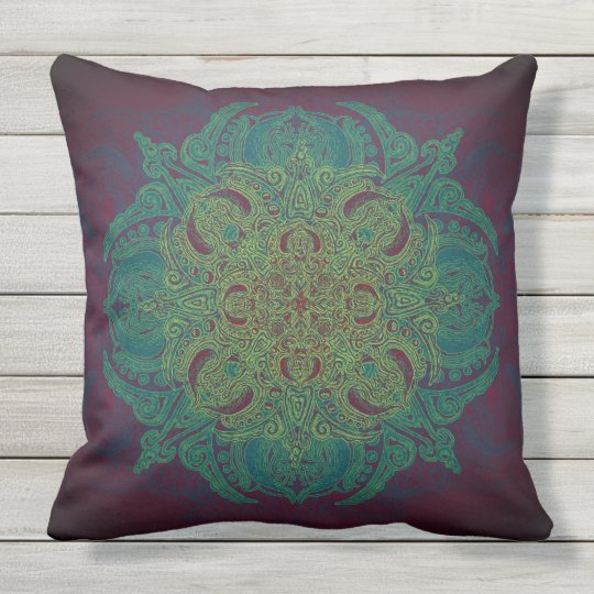 Mint Berry Fleury Patio Outdoor Pillow