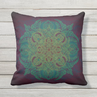 Mint Berry Fleury Patio Throw Pillow
