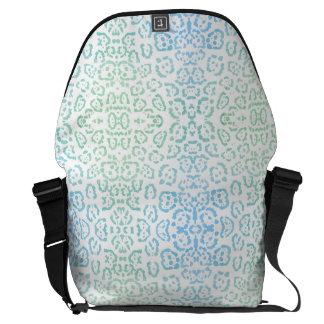 Mint Blue Leopard Pastel Kawaii Animal Print Green Courier Bag