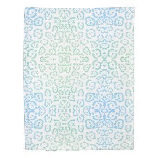 Mint Blue Leopard Pastel Kawaii Animal Print Green Duvet Cover