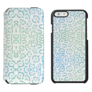Mint Blue Leopard Pastel Kawaii Animal Print Green Incipio Watson™ iPhone 6 Wallet Case