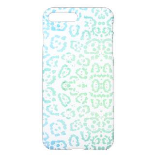Mint Blue Leopard Pastel Kawaii Animal Print Green iPhone 8 Plus/7 Plus Case