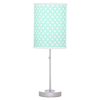 Mint Blue polka dot pattern Table Lamp