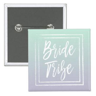Mint Bride Tribe Button