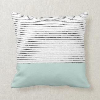 Mint Charcoal Pillow