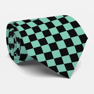 mint checkered tie