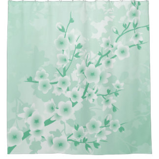 Mint Cherry Blossoms Floral