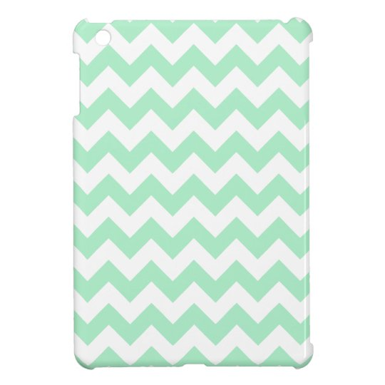 Mint Chevron Pattern iPad Mini Cover