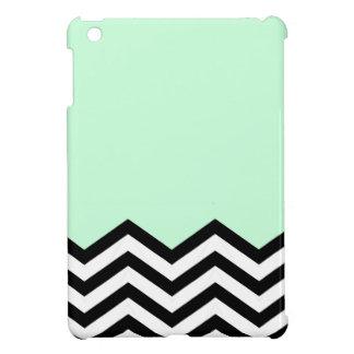 Mint Chevron Piece iPad Mini Cover