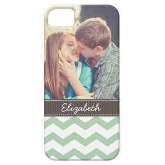 Mint Chevron Stripes Case For The iPhone 5