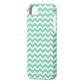 Mint Chevron Stripes iPhone 5 Cases