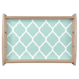 Mint Chic Moroccan Quatrefoil Serving Tray