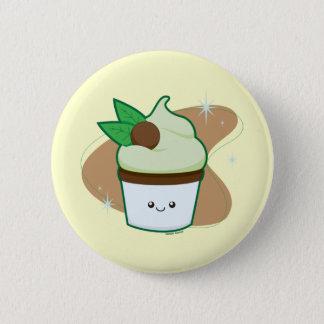 Mint Chip Cupcake 2 Inch Round Button