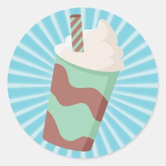 Mint Choc Milkshake Classic Round Sticker