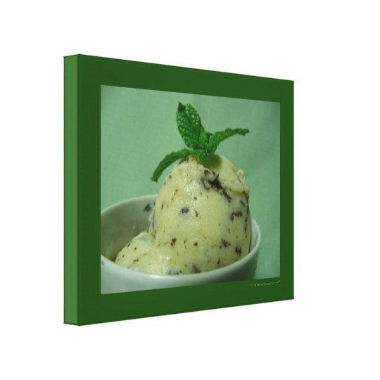Mint Chocolate Chip Ice Cream Frozen Dessert Canvas Print