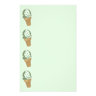 Mint Chocolate Chip Stationery