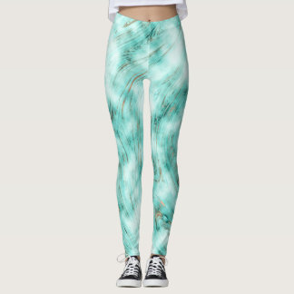Mint Chocolate Chip Swirl Leggings