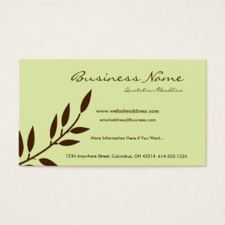 Mint Chocolate Vine Business Cards