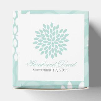 Mint Chrysanthemums Wedding Favor Box