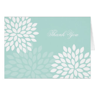 Mint Chrysanthemums Wedding Folded Thank You Notes Greeting Card