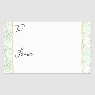 Mint Confetti Dots Gold To From Christmas Stickers