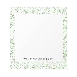 Mint Confetti Dots Notepad