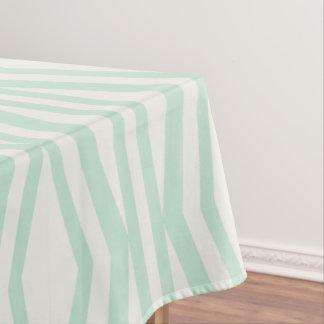 Mint Cream Geometric Pattern Tablecloth