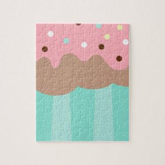 Mint Cupcake Jigsaw Puzzle
