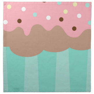 Mint Cupcake Napkin
