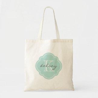 Mint Custom Personalized Monogram Canvas Bags