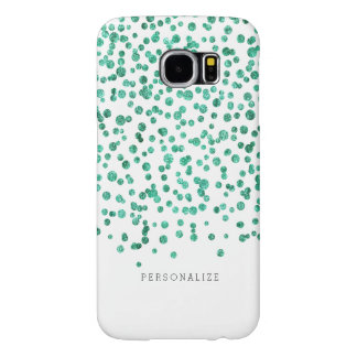 Mint Dazzle Confetti Samsung Galaxy S6 Cases