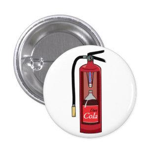 Mint Diet Cola Soda Fire Extinguisher 1 Inch Round Button