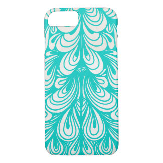 Mint Feather Design iPhone 7 Case