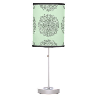 Mint Flower Mandala Lamp