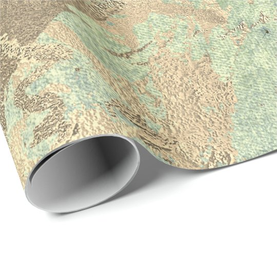 Mint Foxier Gold Marble Shiny Metallic Strokes