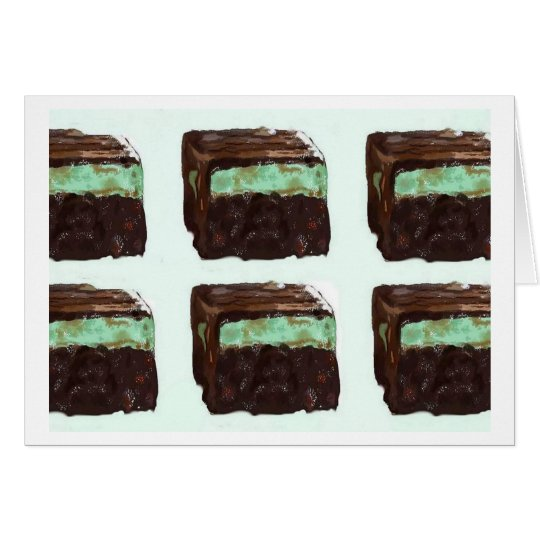Mint Fudge Brownie Card