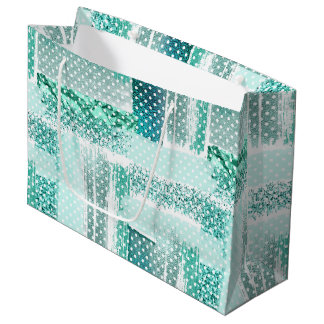 """Mint glamour chick sparkling, """"tiffany blue"""" large gift bag"""