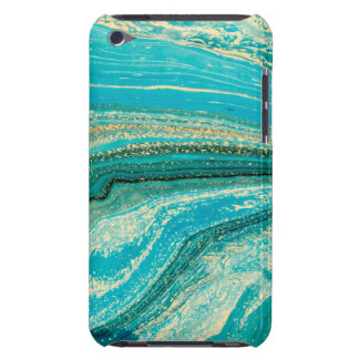 Mint,gold,marble,nature,stone,pattern,modern,chic, Case-Mate iPod Touch Case