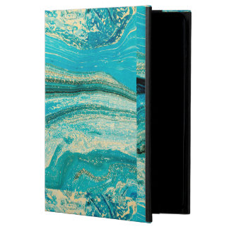 Mint,gold,marble,nature,stone,pattern,modern,chic, Cover For iPad Air