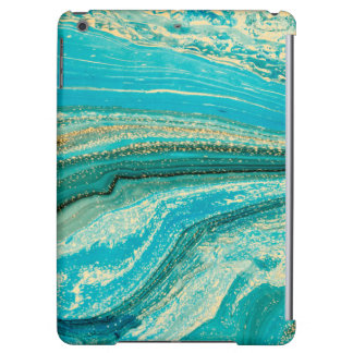 Mint,gold,marble,nature,stone,pattern,modern,chic, iPad Air Cover