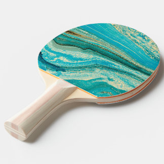 Mint,gold,marble,nature,stone,pattern,modern,chic, Ping Pong Paddle