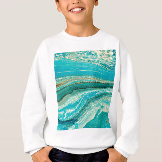 Mint,gold,marble,nature,stone,pattern,modern,chic Sweatshirt