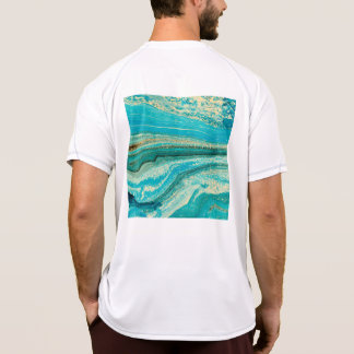 Mint,gold,marble,nature,stone,pattern,modern,chic, T-Shirt