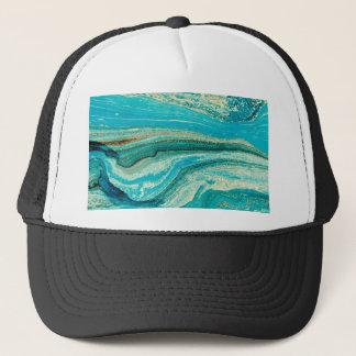 Mint,gold,marble,nature,stone,pattern,modern,chic Trucker Hat